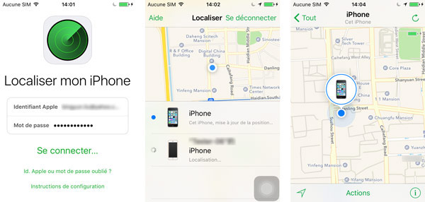 Application localiser mon iphone sur android