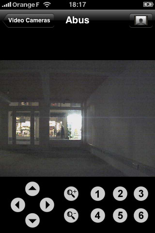 Application iphone pour visualiser camera ip