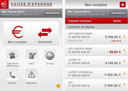 Application caisse epargne iphone