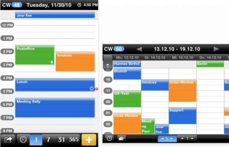 Calendrier iphone application