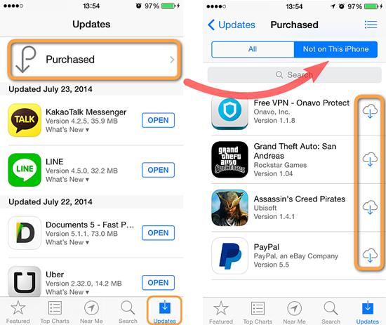 Ne pas mettre a jour application iphone