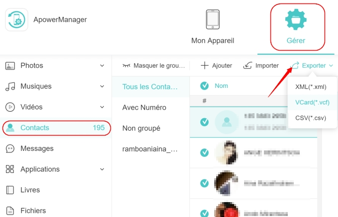 Importer application iphone vers iphone