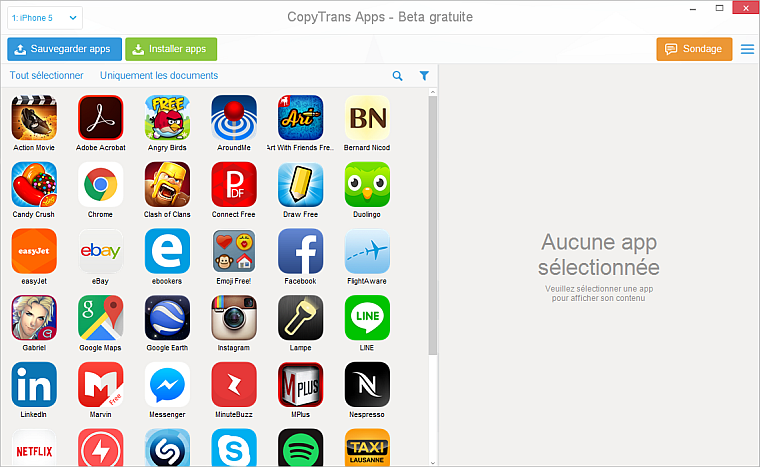 Comment recuperer ses application iphone