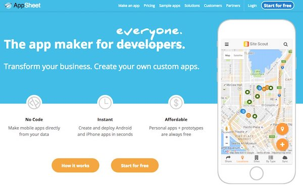 Logiciel création application iphone