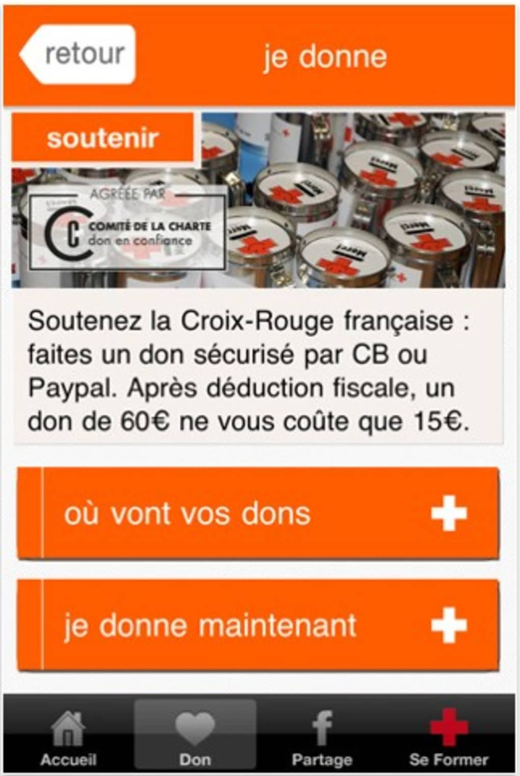 Application premiers secours iphone