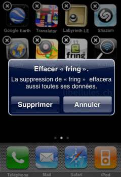 Iphone 4 supprimer application