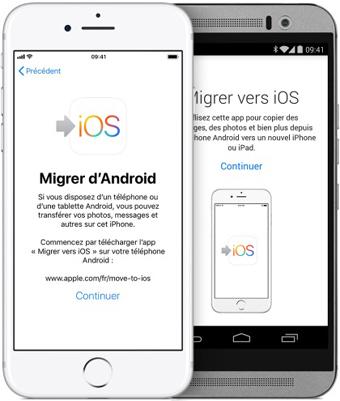 Application pour transférer les données d'un iphone à un autre