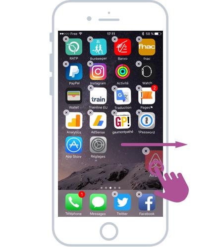 Comment trier ses application iphone