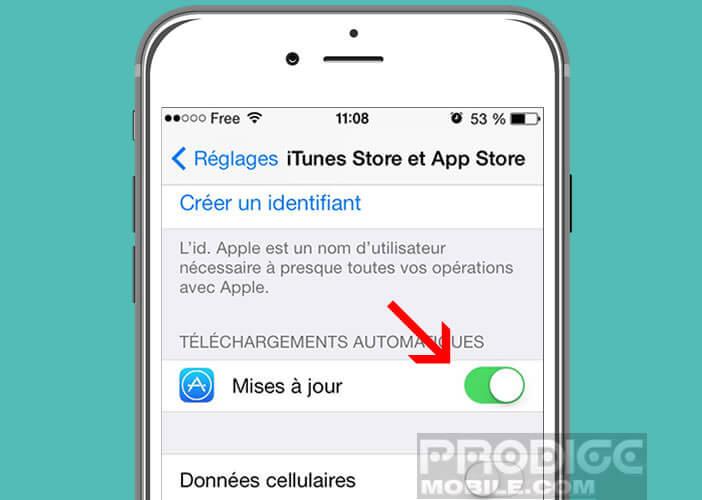 Mettre à jour application iphone via itunes