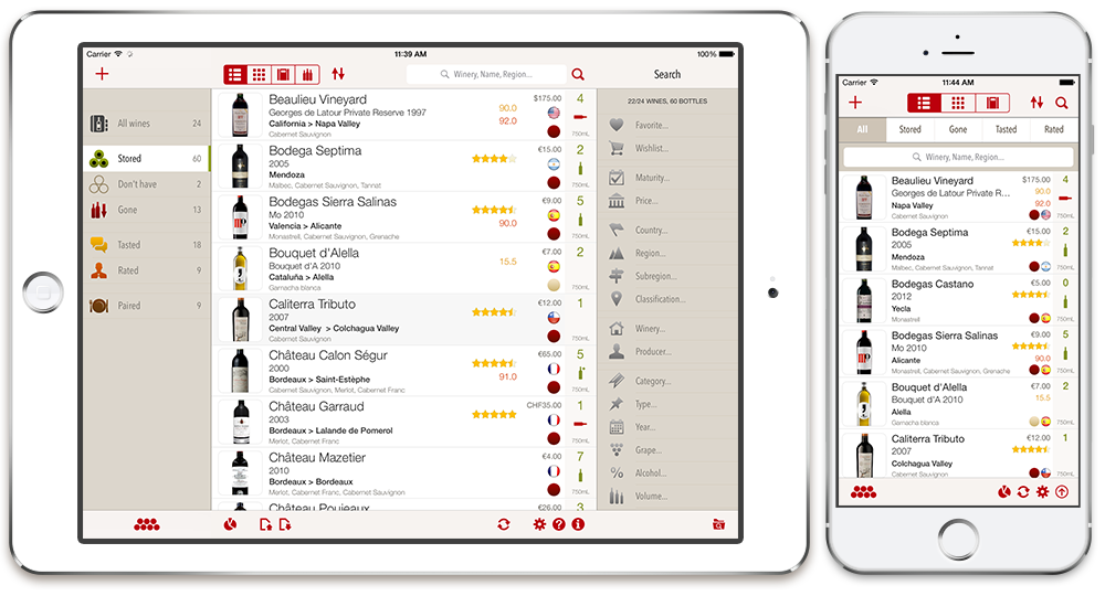 Meilleur application iphone cave a vin