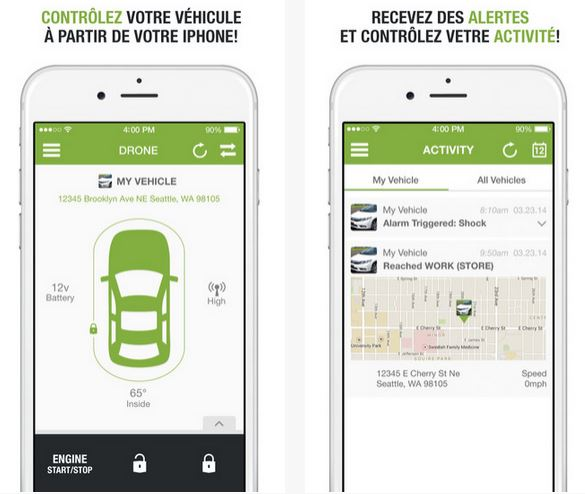 Application iphone voiture