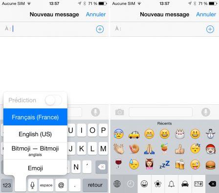 Application pour clavier iphone
