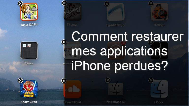 Retrouver une application deja telecharger iphone