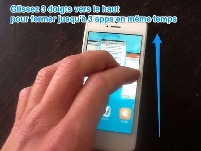 Fermer une application sur iphone 5
