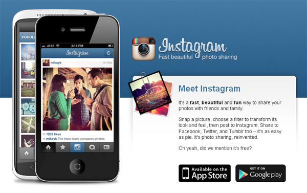 Instagram application iphone