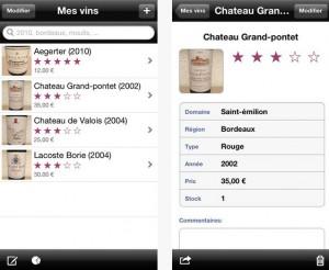 Application gestion cave à vin iphone