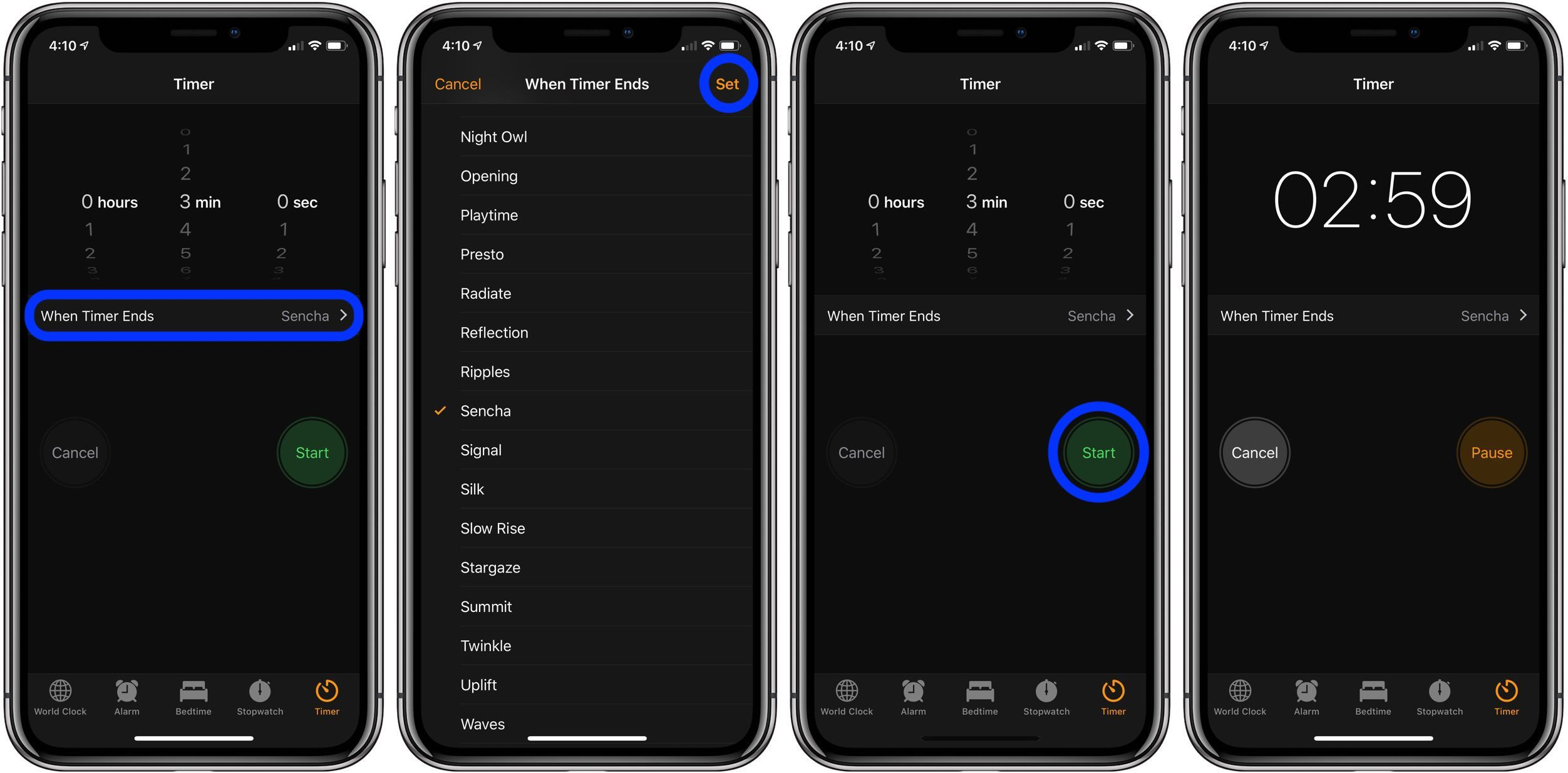 Application timer iphone