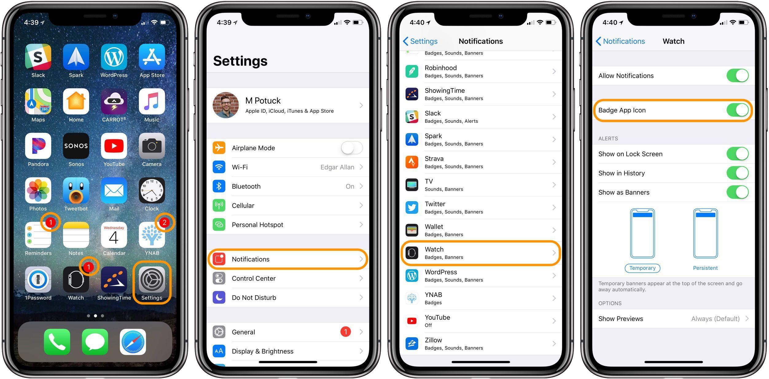 Application sur iphone 4