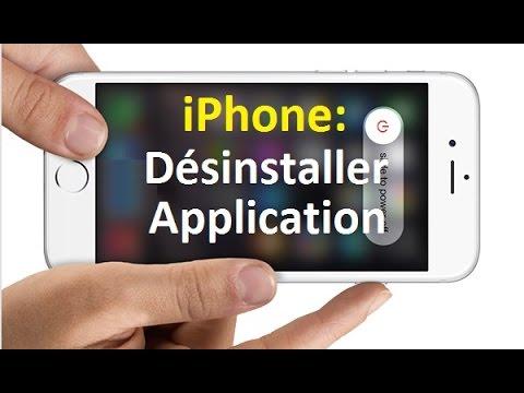 Supprimer application sur iphone 7