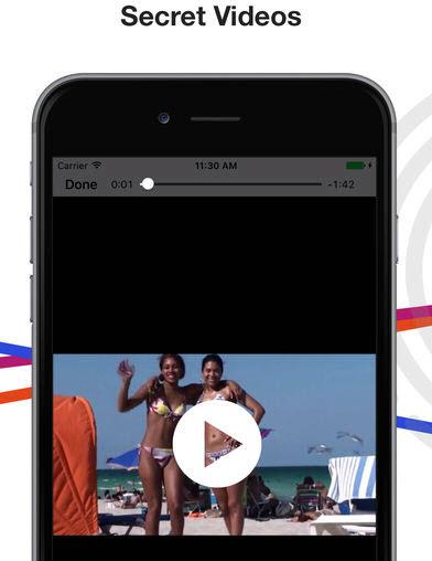Application iphone pour cacher photo et video