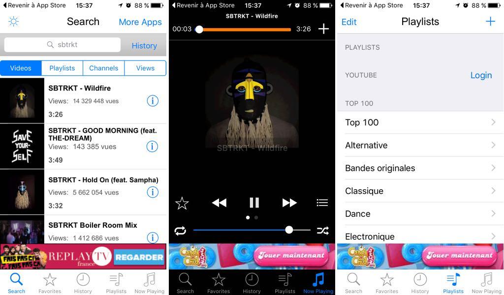 Application ecouter musique iphone sans internet