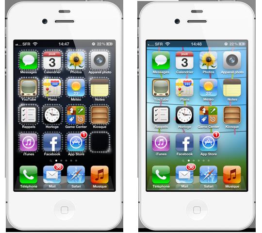 Fond d'écran application iphone