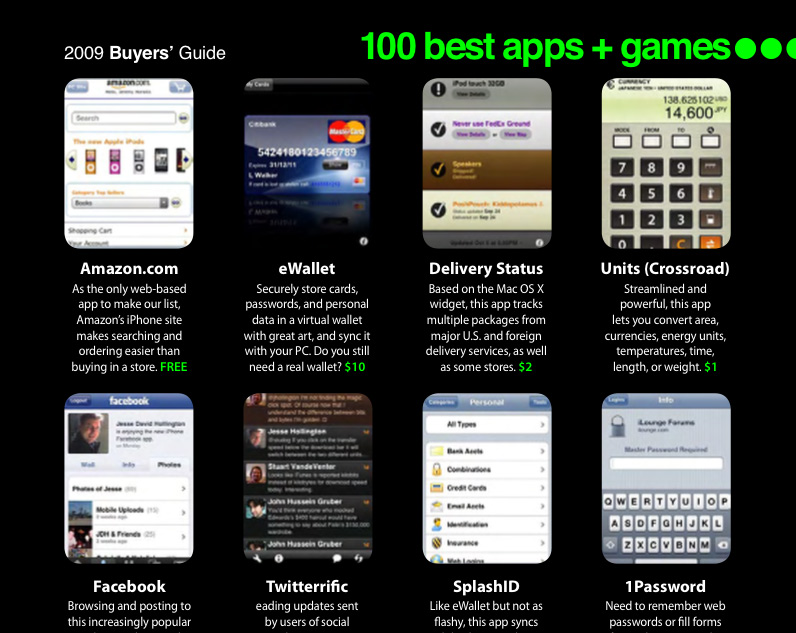 Top 100 application iphone