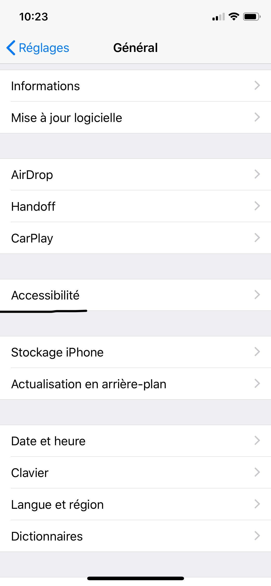 Application iphone mot de passe