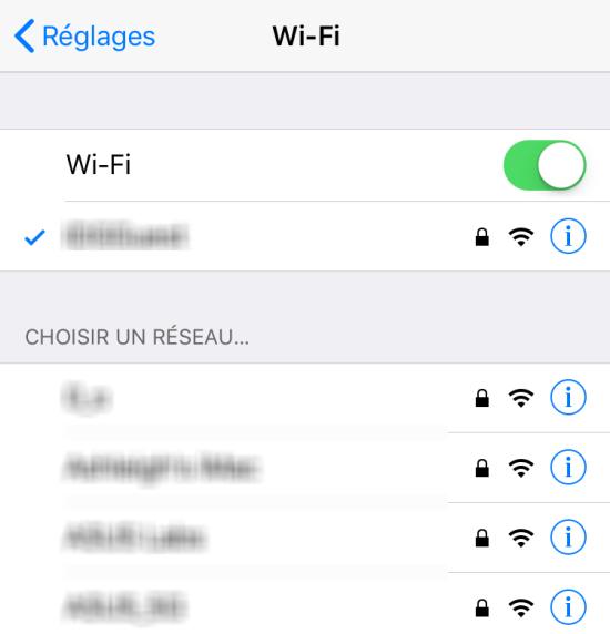 Mise a jour application iphone sans wifi