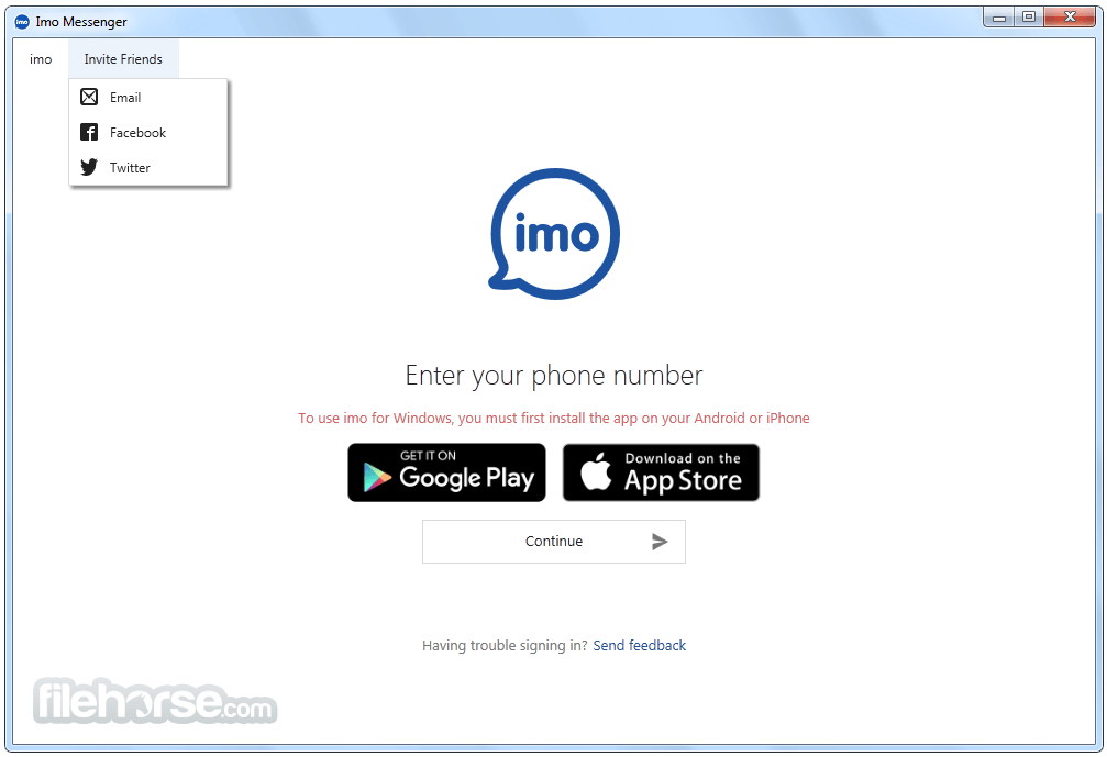 Application imo pour iphone