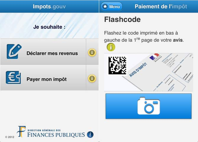 Application impots gouv iphone