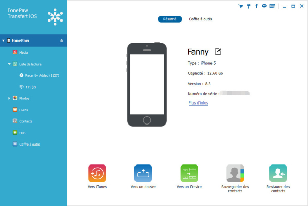 Application transfert photo iphone vers ordi