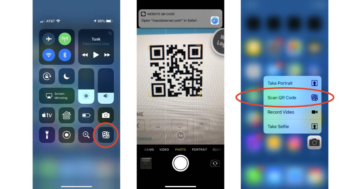 Application flashcode iphone