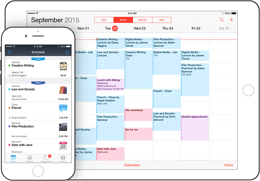 Application iphone pour agenda