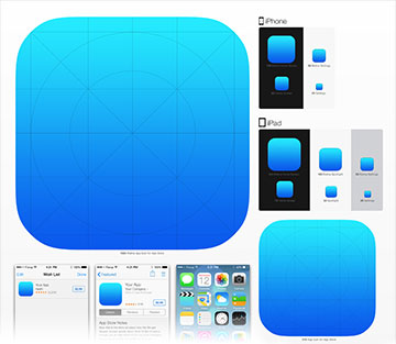 Format icone application iphone