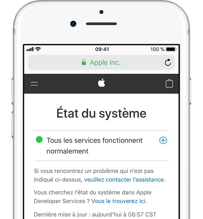 Application iphone mise a jour impossible
