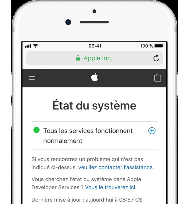 Probleme de telechargement application iphone