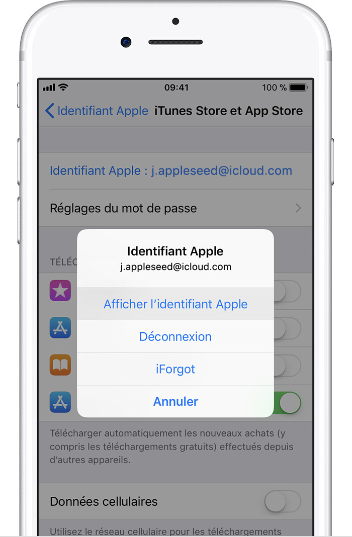 Resilier une application iphone