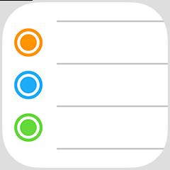 Application rappels iphone