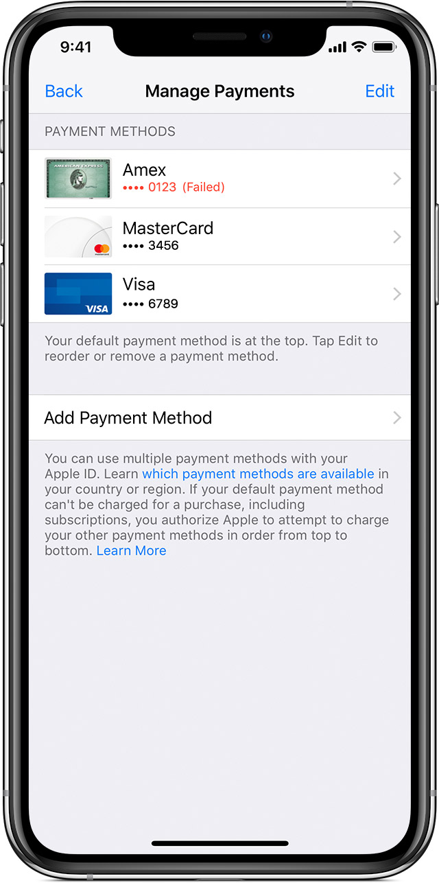 Application iphone pour paiement