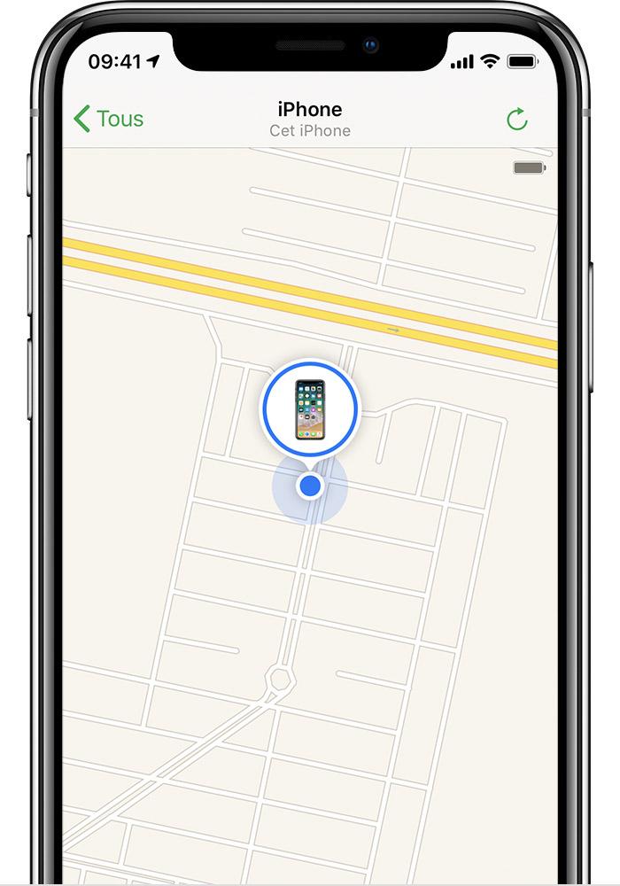 Application pour localiser iphone