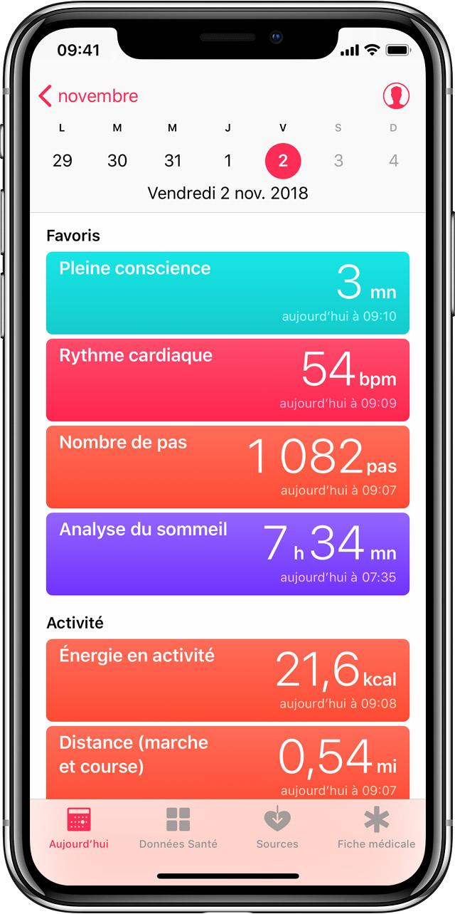 Application iphone photo mouvement