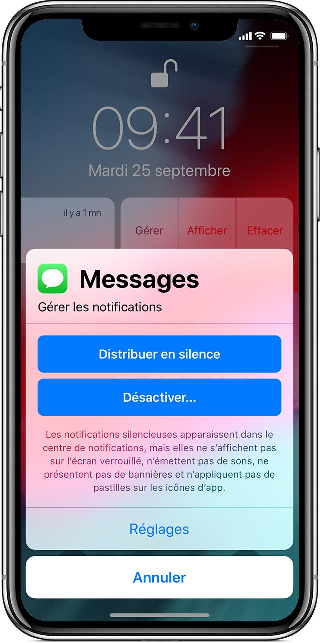 Application mise en veille iphone