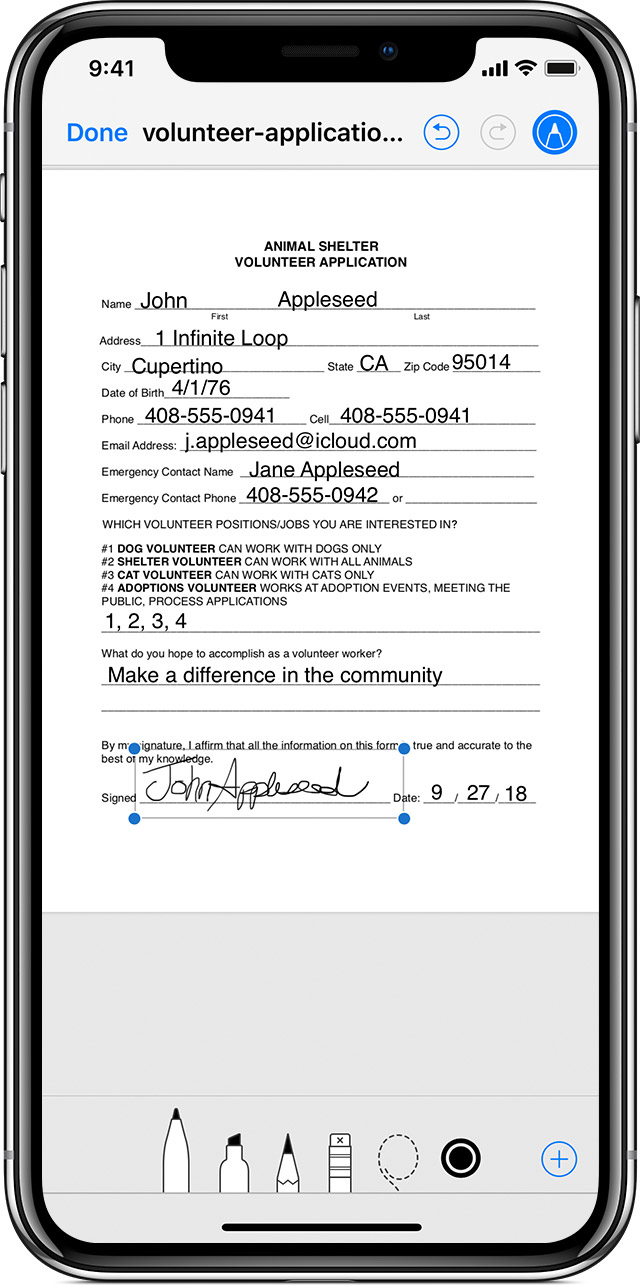 Application information iphone