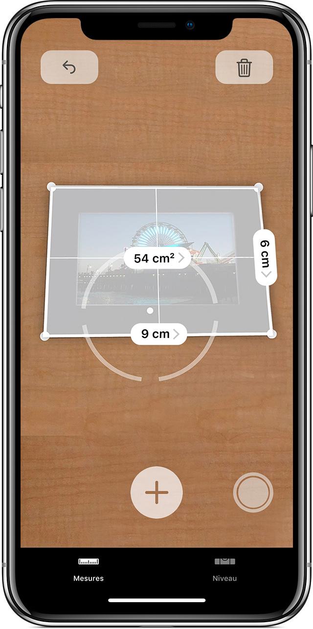 Application iphone pour mesurer