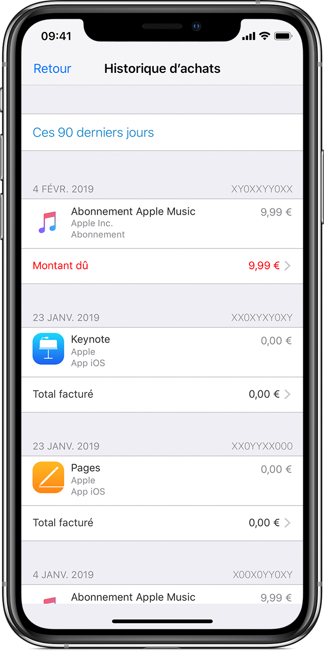 Se faire rembourser une application iphone