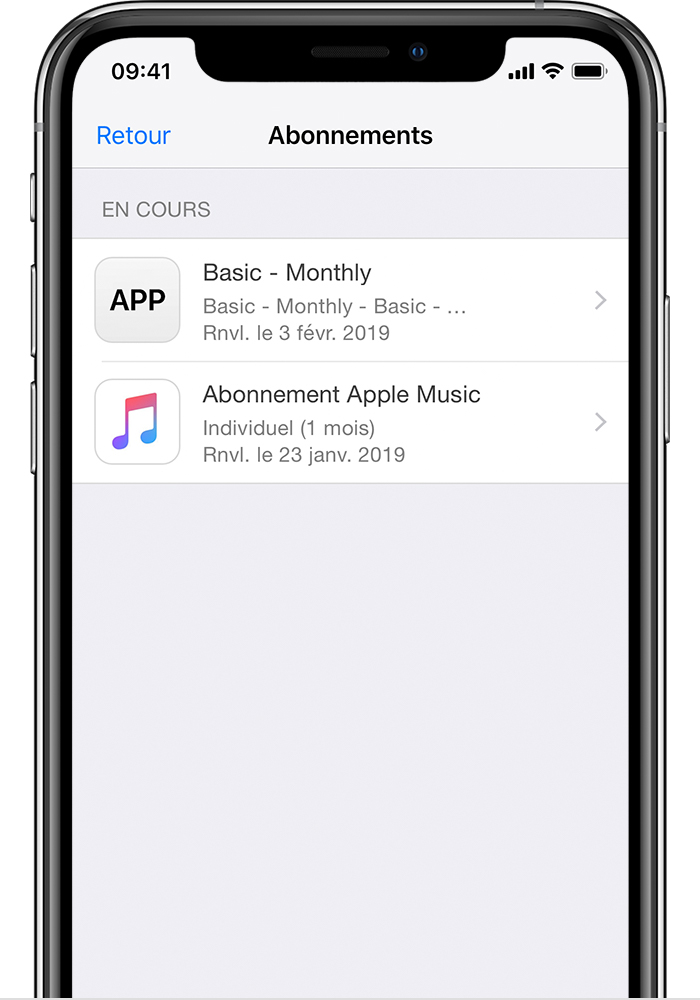 Comment se desabonner d'une application iphone