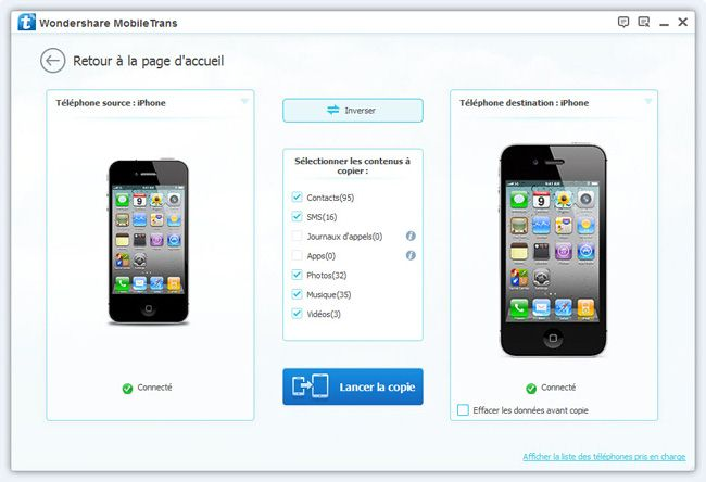 Transfert application iphone 4 vers iphone 5