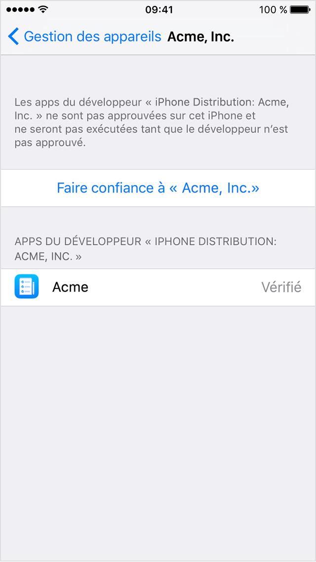 Ajouter une application sur mon iphone