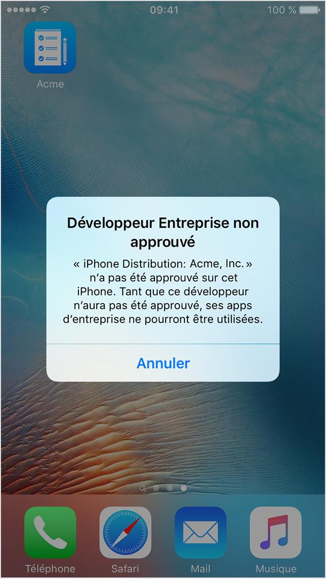 Installer une application sur iphone
